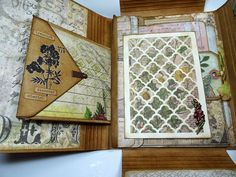 Tim Holtz has got a great new product out there called a Collection Folio . There are two sizes, a large and small. Today I wanted to share. Mini Scrapbook Albums, Scrapbook Pages, Bullet Journal Art, Junk Journal, Altered Books Pages, Memory Album, Memory Books, Bookbinding Tutorial, Journal Covers
