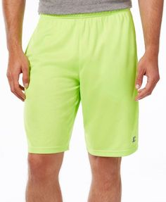 Champion Men's Vapor Powertrain Shorts In Reflector Green Running Wear, Running Pants, Sport Shorts, Mens Running, Gym Shorts, Workout Shorts, Mens Fitness, Champion