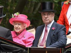 Royal Ascot day 3 Lady's day: Queen Elizabeth II road with the Duke of York,