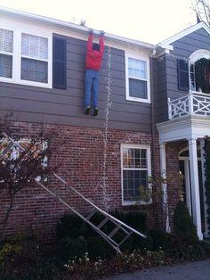 A christmas time prank to fool the neighbors.