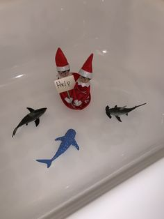 Elf on the shelf sharks Elf on the shelf sharks- Sand Christmas Activities, Christmas Projects, Christmas Traditions, Merry Christmas, Christmas Elf, All Things Christmas, Christmas Holiday, Geek House, Der Elf