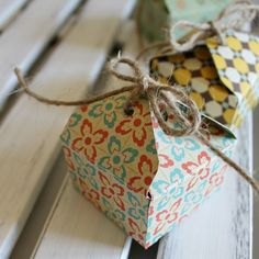 Ginger Snap Crafts: Tiny Gift Boxes with We R Memory Keepers Envelope Punch Board {tutorial}