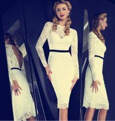 Free Shipping Celebrity Dress Evening Dress Maya Myriam Faresscoop Long Sleeve Lace Sheath Straight Knee Length Custome