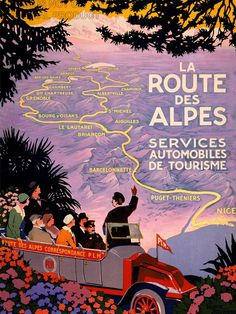 TRAVEL TOURISM ALPS PARIS NICE MOUNTAIN ROUTE NEW FINE ART PRINT POSTER CC2918 in Art, Posters, Contemporary (1980-Now)   eBay