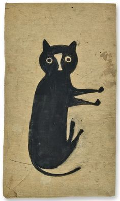 """Bill Traylor, """"Black Cat."""""""
