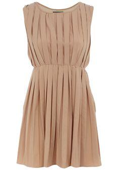Nude Sleeveless Pleat Dress... so many possibilities!