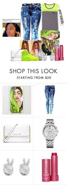 """Untitled"" by fashionismypashion476589 ❤ liked on Polyvore featuring Victoria's Secret, MICHAEL Michael Kors, Tommy Hilfiger, Rock 'N Rose and Fresh"