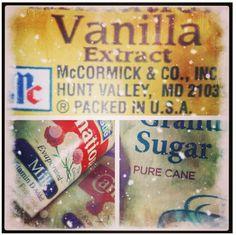 Old Fashioned SnowCream!!! Vanilla Extract, Sweetened Condensed (or evaporated) Milk, Fresh Snow & Sugar