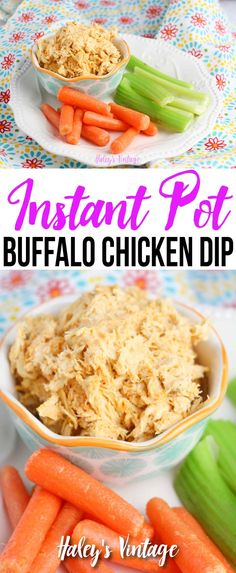 Instant Pot Buffalo Chicken Dip a Delicious Game Day Recipe - Are you looking for a great game day recipe? Why not try my Instant Pot Buffalo Chicken Dip! This delicious recipe will please all the fans in your house. Easy Appetizer Recipes, Yummy Appetizers, Dinner Recipes, Instant Pot Pressure Cooker, Pressure Cooker Recipes, Chicken Dips, Chicken Recipes, Vegetarian Recipes, Healthy Recipes
