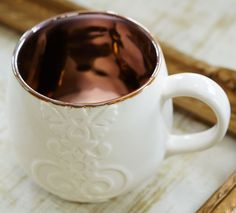 NEW Starbucks Casi Cielo 12 fl oz White Embossed Ceramic Mug - NWT #Starbucks