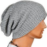 Mens Slouchy Long Beanie Knit Cap for Summer Winter Oversize