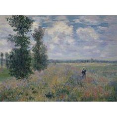 Poppy Fields (Les Coquelicats) Claude Monet (1840-1926French) Annenberg Collection Palm Springs California Canvas Art - Claude Monet (18 x 24)