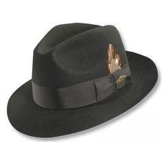 438b163e18ba27 Stacy Adams Premium Wool Center Dent Fedora Gatsby Hat, Felt Material, Fedora  Hat Women