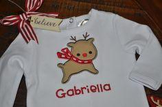 Reindeer Applique Machine Embroidery Design