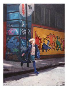 """La série """"Graffiti Girls"""" de l'artiste américain Kevin Peterson, de magnifiques portraits de petites filles posant devant des graffitis et des lieux recouvert"""