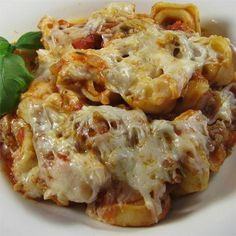 """Italian Sausage Tortellini Bake I """"This dish was truly TASTY! The recipe was easy to follow and my entire family enjoyed. Thanks for a new quick and easy go- to."""""""
