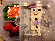 Girl robot lunch