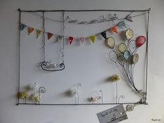 workshop again, always shop! Wire Crafts, Diy And Crafts, Arts And Crafts, Sculptures Sur Fil, Wire Sculptures, Wire Wall Art, Wire Ornaments, Found Art, Recycled Art
