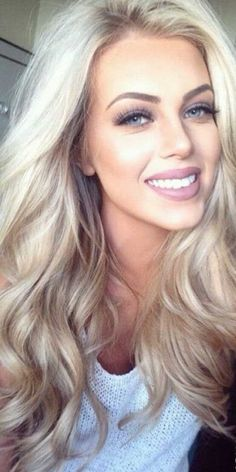 girl with ash blonde hair** love the color tho