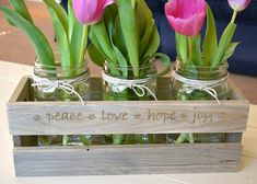 Easter Centerpiece Personalized Wooden Crate Centerpiece