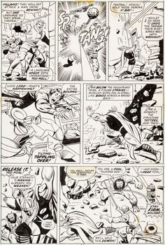 92102: John Buscema and Vince Colletta Thor #211 Page 1 : Lot 92102