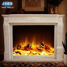 Small Fireplace Mantel www.jsbluesea.com info@jsbluesea.com whatsapp wechat:0086-13633118189 #fireplace #homedecoration #homerenovation #fireplacemantel #jsbsmarble #jsbsstone #JSBS Marble Fireplace Mantel, Small Fireplace, Marble Fireplaces, Fireplace Mantels, Marble Columns, Stone Columns, Chinese Valentine's Day, Marble Carving, Stone Fountains