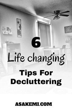 6 amazing Tips for Decluttering from Marie Kondo. Great way to learn how to declutter and how to live simple.