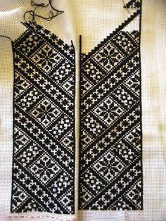 Ukraine, from Iryna Cross Stitch Geometric, Beaded Cross Stitch, Crochet Cross, Cross Stitch Charts, Cross Stitch Designs, Cross Stitch Patterns, Embroidery Fashion, Embroidery Jewelry, Beaded Embroidery