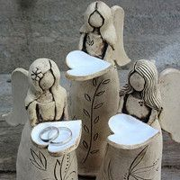Clay Projects, Clay Crafts, Clay Angel, Pottery Angels, Fantasy Craft, Keramik Design, Ceramic Angels, Indian Flag Wallpaper, Clay Ornaments