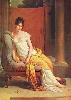 1802 Mme. Recamier by François-Pascal-Simon Gérard (Musée Carnavalet, Paris)