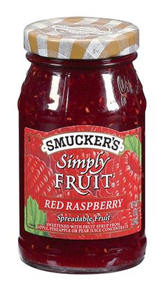 Smucker's Simply Fruit Red Raspberry Spreadable Fruit, (Pack of Strawberry Preserves, Raspberry Fruit, Low Sugar, Sugar Free, Sweet Sauce, Apple Butter, Spice Mixes, Gourmet Recipes, Healthy Life