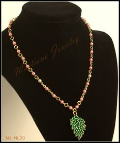Spring - Beaded Pearl Chain Necklace  http://MartianaJewelry.etsy.com