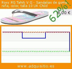 Roxy RG Tahiti V G - Sandalias de goma niña, color, talla 10 UK Child (Ropa). Baja 62%! Precio actual 8,00 €, el precio anterior fue de 21,10 €. http://www.adquisitio.es/roxy/rg-tahiti-v-g-sandalias-17