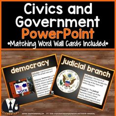 Civics and Government Vocabulary Power Point and Word Wall Posters! This is a FUN, EFFECTIVE way to teach civics and government vocabulary to your class.