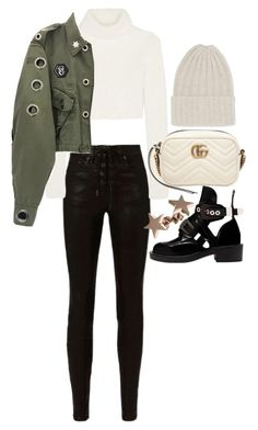 """Untitled #22254"" by florencia95 ❤ liked on Polyvore featuring rag & bone, Roberto Cavalli, The Elder Statesman, Gucci and Balenciaga"
