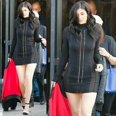 """So beautiful! Kylie leaving a studio today. - Tão linda!! Kylie deixando um estudio hoje. - @kyliejennerkouture #KylieJenner"""