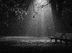 And just stand there in the pouring rain.