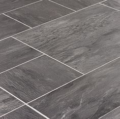 Tile Laminate Is Perfect For Kitchens Or Bathrooms! Faus Innovation  Midnight Slate Tile Laminate Flooring