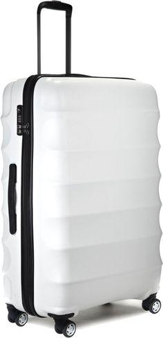45de9cf42708a Antler Juno 79cm Large Lightweight 4 Wheel Suitcase White