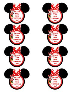 Minnie Mouse Thank You Tags Minnie Mouse Gift Tags Instant