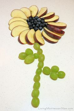 Fruit Flower by Deb Chitwood, via Flickr (Montessori-Inspired Food Art)