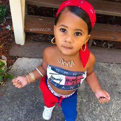 If I had a little girl - Kleider für Kinder - Baby Board Cute Mixed Babies, Cute Black Babies, Cute Kids Fashion, Baby Girl Fashion, Baby Swag, Cute Little Girls Outfits, Kids Outfits, Baby Girl Names, My Baby Girl