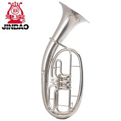 360.00$  Watch now - http://ali1vc.worldwells.pw/go.php?t=32721681539 - Original JinBao Brand Professional Flat key JBBR-1210 Tenor Bb WAGNER TUBA Nickel Plated Brass musical Instruments trumpet