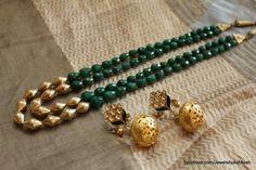 Earrings For Women Gold Jewellery Design, Bead Jewellery, Beaded Jewelry, Beaded Necklace, Designer Jewelry, Gemstone Necklace, Necklaces, Bracelets, Emerald Jewelry