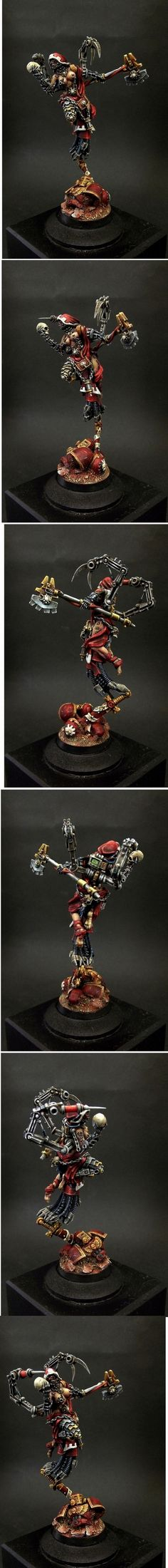 MECHANIC FEMALE ADEPT TECH PRIEST WITH AXE 48MM