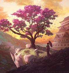 ArtStation - The Legend of the Cherry Tree, Sylvain Sarrailh