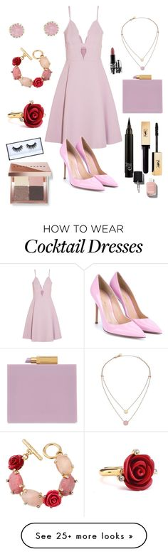 """Cocktail party"" by epiczp on Polyvore featuring Giambattista Valli, Gianvito Rossi, Lulu Guinness, Michael Kors, Charlotte Russe, Oscar de la Renta, Chanel, Bobbi Brown Cosmetics and MAC Cosmetics"