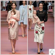 Cute moment at D&G show! #MFW