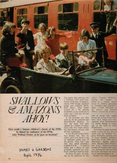 'Homes and Garden' magazine's article on the 974 film of Arthur Ransome's iconic book 'Swallows and Amazons' released in April 1974