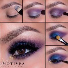 Using colors it can make an amzing makeup Glam Makeup, Skin Makeup, Makeup Inspo, Eyeshadow Makeup, Makeup Inspiration, Beauty Makeup, Makeup Goals, Makeup Tips, Motives Makeup